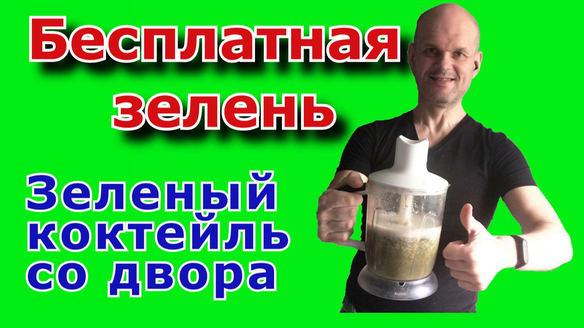 Зеленый коктейль из дикоросов